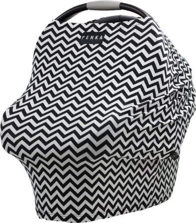 Capa Multifuncional UV para Bebê Conforto e Carrinho Penka Batman Preto e Branco