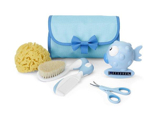 Kit de Higiene Primeiros Cuidados Bebê Azul Chicco (0m+)