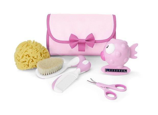 Kit de Higiene Primeiros Cuidados Bebê Rosa Chicco (0m+)