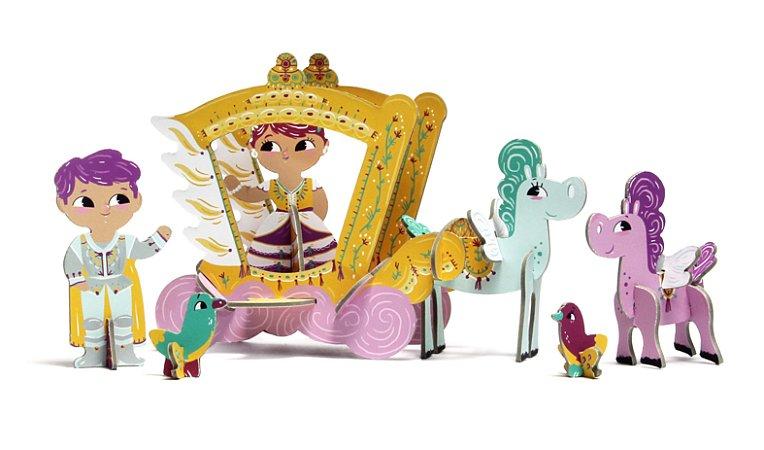 Quebra Cabeça 3D na Maletinha Princesa Iris Krooom