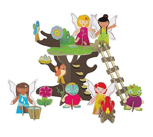 Quebra Cabeça 3D na Maletinha Árvore das Fadas Krooom
