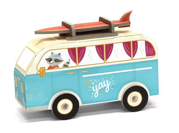 Carrinho de Papelão de Montar 3D Van Hippie Krooom