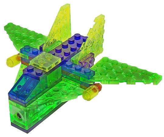 Blocos de Montar 4 em 1 com Luzes Aeronaves ZippyDo Laser Pegs