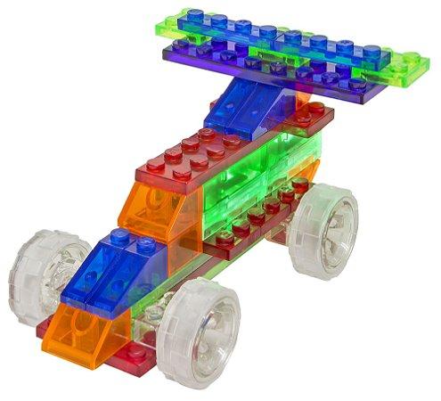 Blocos de Montar 4 em 1 com Luzes Carros ZippyDo Laser Pegs