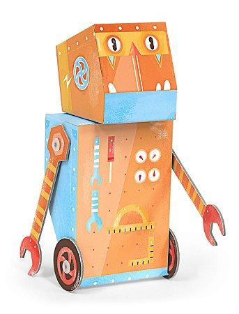 Personagem 3D de Montar Robô Construtor Krooom