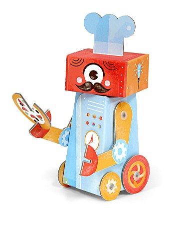 Personagem 3D de Montar Chef Robô Krooom