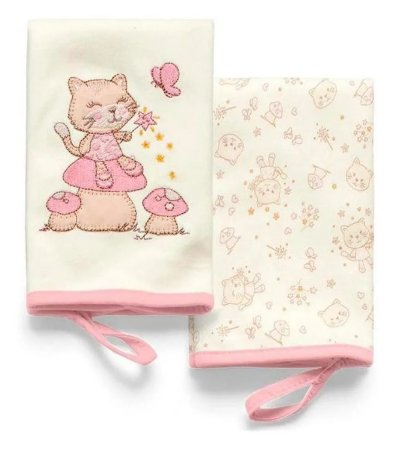 Pano de Boca Cogumelo Rosa Mundo de Fantasia Hug Baby - 2 Unidades