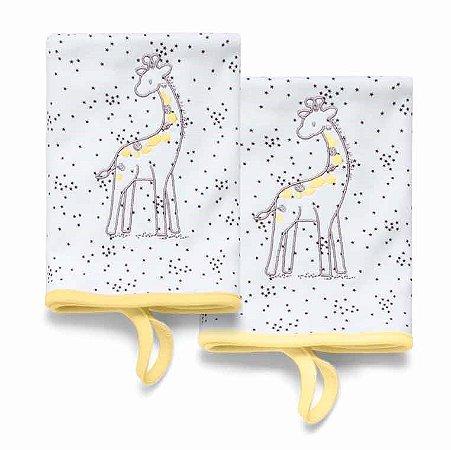 Pano de Boca Girafa Branco Girafante Hug Baby - 2 Unidades