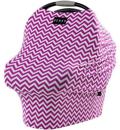 Capa Multifuncional Stripes para Bebê Conforto e Carrinho Penka Skye Rosa