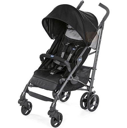 Carrinho de Bebê Liteway³ Jet Black Preto Chicco - 5 Posições até 15kg