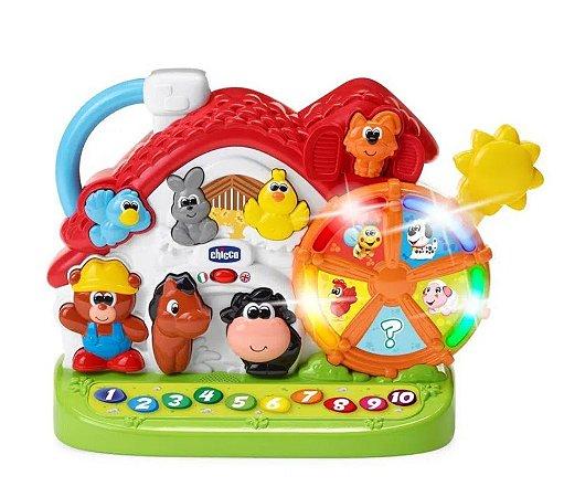 Brinquedo Musical Nova Fazendinha Bilíngue Chicco (12m+)