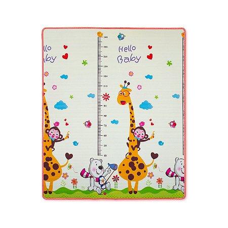 Tapete de Rolo Dupla Face Girafinha Comtac Kids 1,50m x 1,80m
