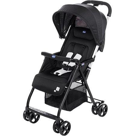 Carrinho de Bebê Ohlalà 2 Preto Black Night Chicco - Até 15kg
