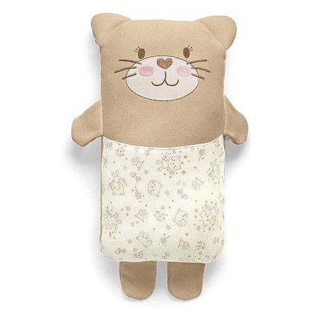 Travesseiro Agarradinho Bege Mundo de Fantasia Hug Baby (0m+)