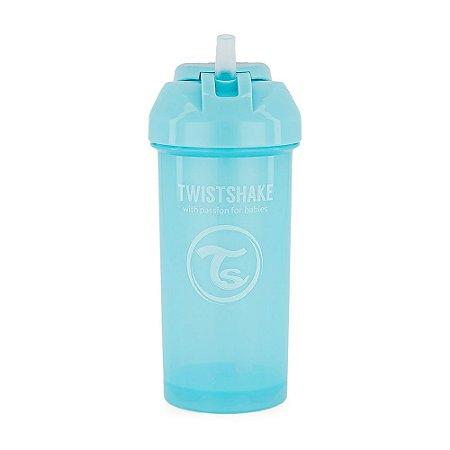 Copo com Canudo Antivazamento Straw Cup 360ml Twistshake Azul (12m+)