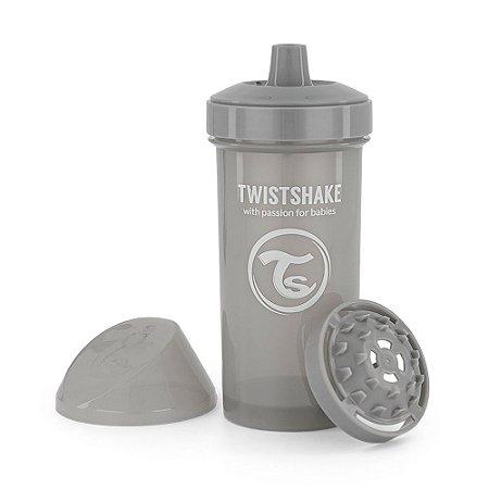 Copo de Treinamento Antivazamento Kid Cup 360ml Twistshake Cinza (12m+)