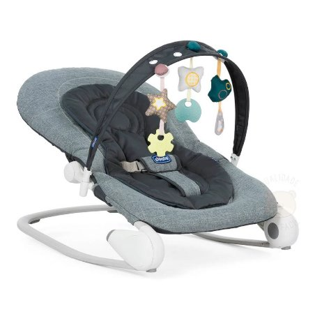 Cadeira de Descanso Bouncer Hoopla Dark Grey Chicco (0 a 18kg)