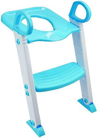 Redutor de Vaso Sanitário com Escada Dobrável Azul Kababy