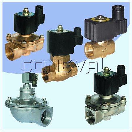 Válvula solenoide para uso geral - Vapor - Ar - Óleo - Gás