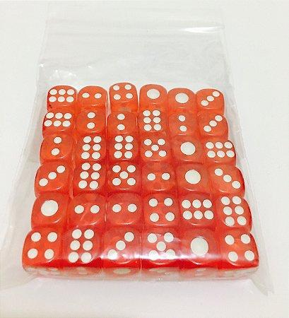 Kit de Dados com 36 D6 - Vermelho