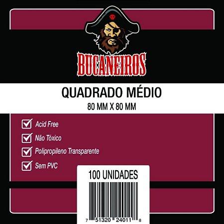 Sleeves QUADRADO MÉDIO - 80X80 mm - Bucaneiros