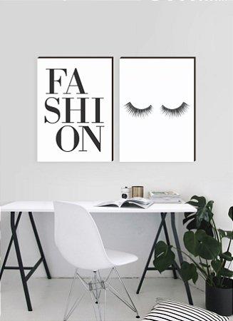 Dupla de quadros Fashion+ Cílios [boxdemadeira]