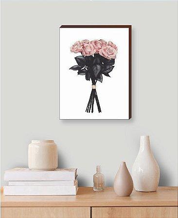 Quadro Decorativo Flores [BoxMadeira]