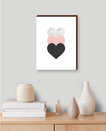 Quadro Decorativo Corações [BoxMadeira]