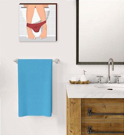 Quadro decorativo Banheiro Feminino QUADRADO [BoxMadeira]
