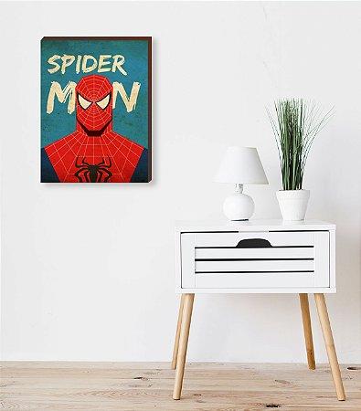 Quadro Homem Aranha VIntage- Marvel [BoxMadeira]