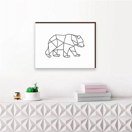 Quadro decorativo Urso geométrico [Box de Madeira]