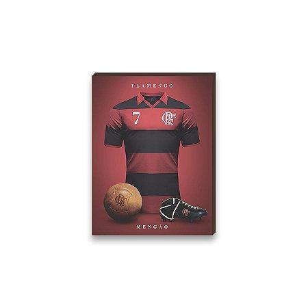 Quadro decorativo Time Flamengo mod. 02 [Box de madeira]