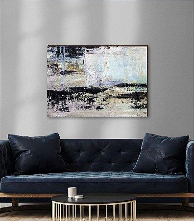 Quadro decorativo Pintura Abstrata [box de Madeira]