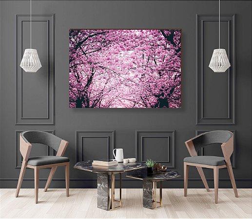 Quadro decorativo Árvore Ipê Rosa [BoxMadeira]