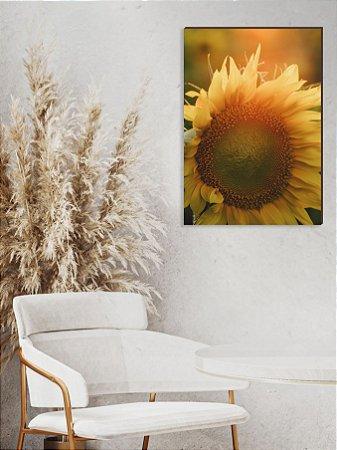 Quadro decorativo Girassol com Zoom [BoxMadeira]