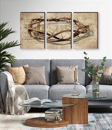 Quadros Trio Coroa de espinhos [BOX DE MADEIRA]