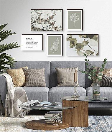 Kit de quadros Home Primavera Plantas [BoxMadeira]