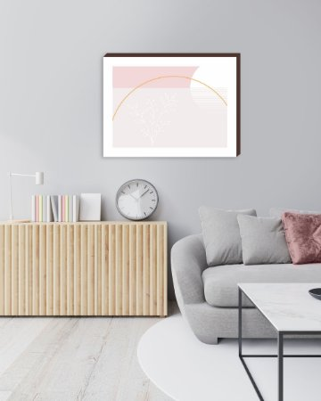 Quadro decorativo Abstrato Orgânico Rosa [BoxMadeira]