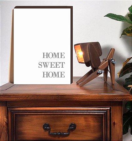 Quadro decorativo HOME SWEET HOME Vertical [BoxMadeira]