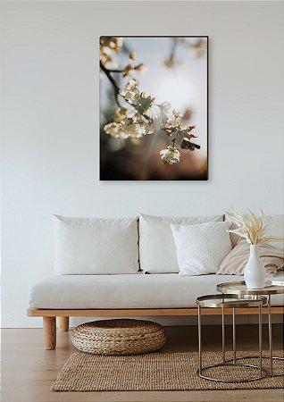 Quadro decorativo Cerejeira com raio de sol [BoxMadeira]
