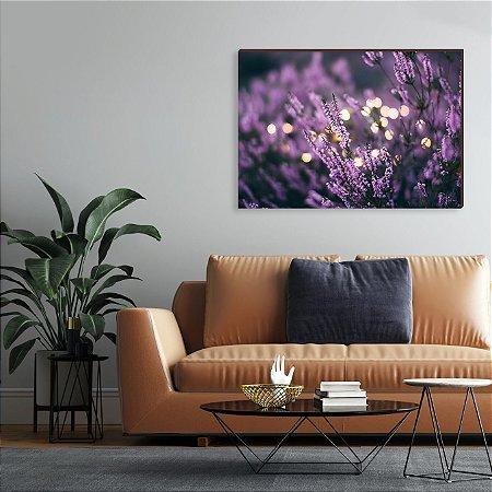 Quadro decorativo Flores roxas [BoxMadeira]