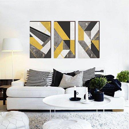 Coleção Abstrato Amarelo [BoxMadeira]