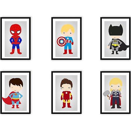 "Kit Heróis Kids [MolduraVidro]"""