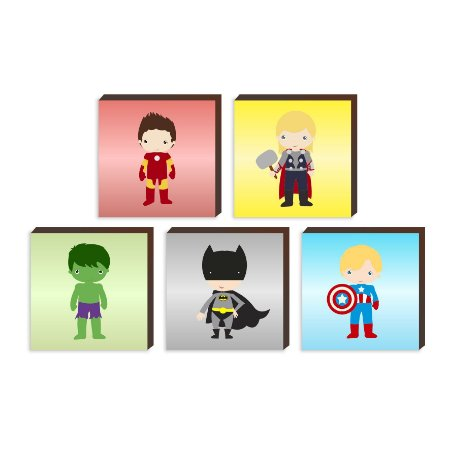 "Kit Super Heróis Colors [BoxMadeira]"""