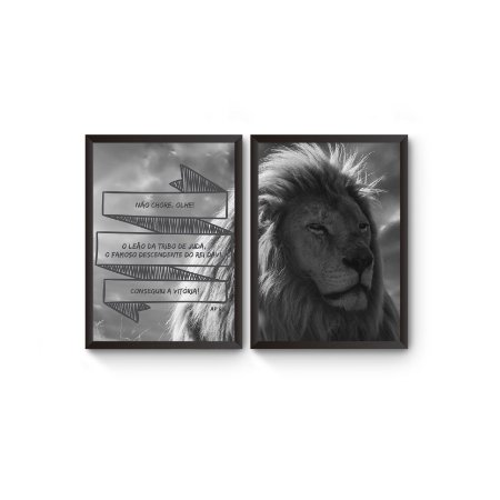 Dupla Leão de Juda [MolduraVidro]