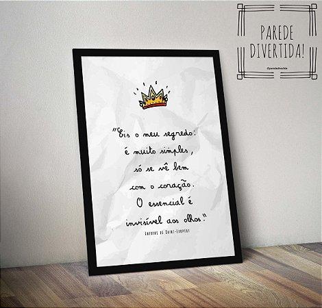 Pequeno Príncipe - Eis o meu segredo ... [MolduraVidro]