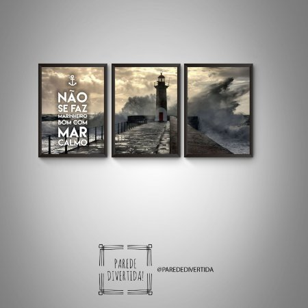 Trio não se faz marinheiro bom com mar calmo [MolduraVidro]