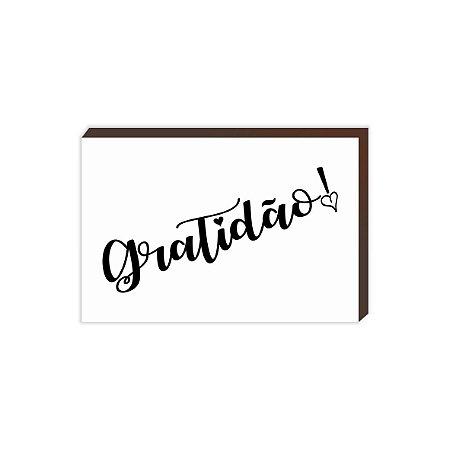 Quadro com a palavra Gratidão [BoxMadeira]