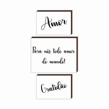 Trio Amor + Para nós + Gratidão [BoxMadeira]