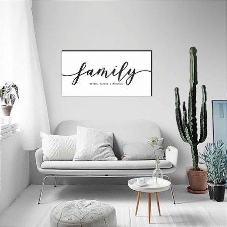 Quadro Family Personalizado [Box de Madeira]